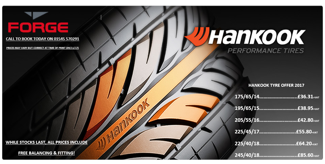 Forge Winter Hankook Tyre Offer